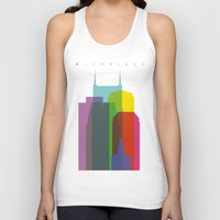 nashville Tank Tops featuring Shapes of Nashville by Glen Gould