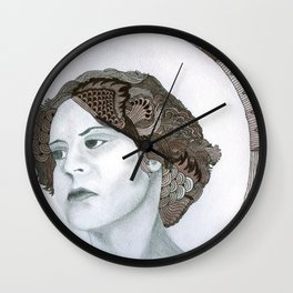 Haloed Lady For Sale!!! Wall Clock