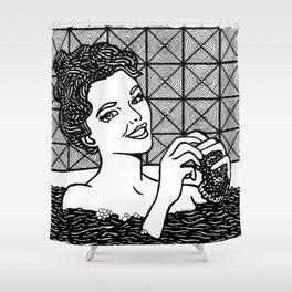 Roy Lichtenstein - Woman in bath Shower Curtain