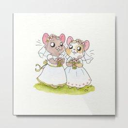 Wedding Hamsters ll Metal Print