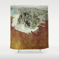 manhattan Shower Curtains featuring manhattan by Luca Stancari
