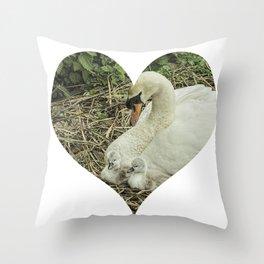 Mother Swan VI Throw Pillow
