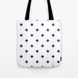 Modern Swiss - Bold Style Cross Plus Sign Tote Bag