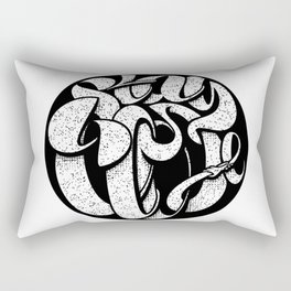 Stay Close Lettering Blk Rectangular Pillow