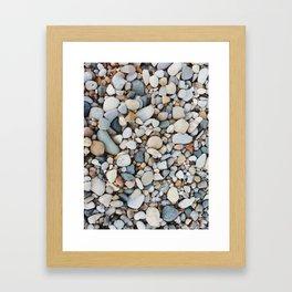 stones of lake huron Framed Art Print
