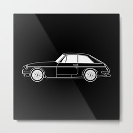 UK Sports Car Coupe Outline Metal Print