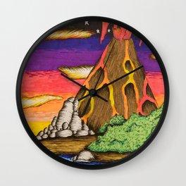 Creatie Volcano Wall Clock