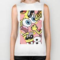 spongebob Biker Tanks featuring Spongebob by Startled Artist
