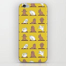 Poodle Yoga iPhone Skin
