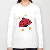 ladybug Long Sleeve T-shirts featuring Ladybug by Daniela Alvisi