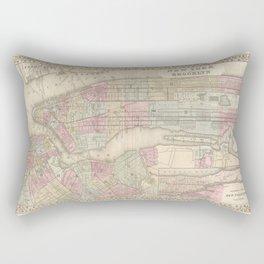New York City Vintage Map Rectangular Pillow