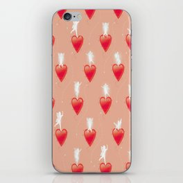 Faerie Hearts - Peach  iPhone Skin