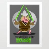 Return of the Bacon Art Print