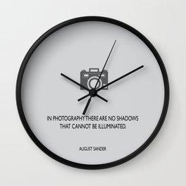 Shadows & Illumination Wall Clock