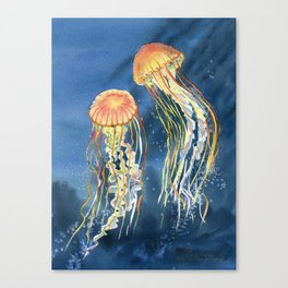 Dancing of Jellyfish Canvas Print