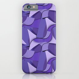 Ultra Violet Abstract Waves iPhone Case