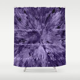 Gray City of Love Shower Curtain