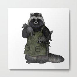 Raccoon dogs Metal Print