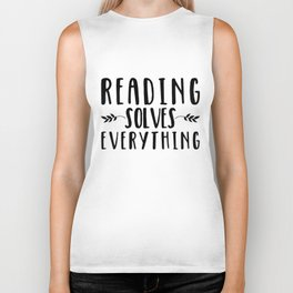 Reading Solves Everything Biker Tank