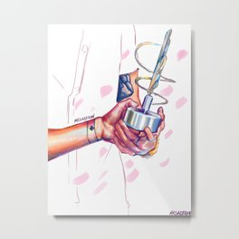 hands holding. Metal Print