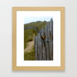Normandy Fence Framed Art Print