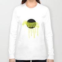 zebra Long Sleeve T-shirts featuring Zebra by ministryofpixel