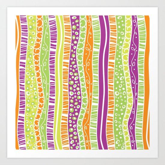 Zany Stripes Art Print