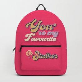 favourite stalker - typography Backpack