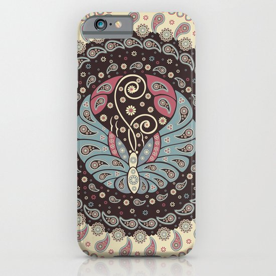 Butterfly Mandala iPhone & iPod Case