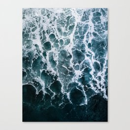 Minimalistic Veins in a Wave  - Seascape Photography Canvas Print