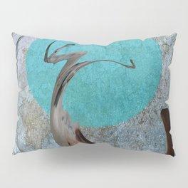 Turquoise Moon Pillow Sham
