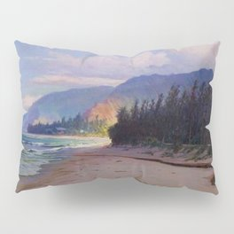 Rays of Sun on the Windward side of Oahu, Hawaiian landscape painting by D. Howard Hitchcock Pillow Sham