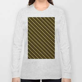 Brown And Yellow Stripes Long Sleeve T-shirt