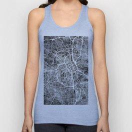 Nashville Tennessee City Map Unisex Tank Top