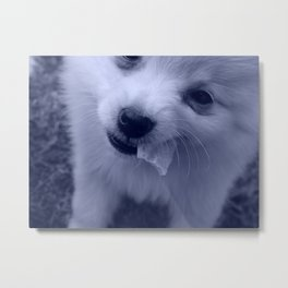 Puppy Chip Metal Print