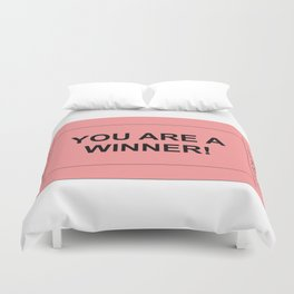 Red Ticket Duvet Cover