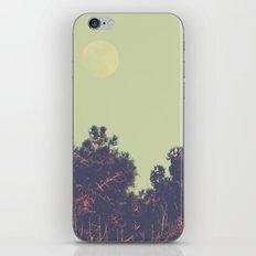 Moon over Pine Trees iPhone & iPod Skin