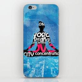 CITY YOGA BOOK iPhone Skin