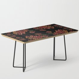 Orchids on Black Coffee Table