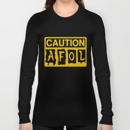 CAUTION AFOL ADULT FAN OF LEGO by Chillee Wilson [from Customize My Minifig] Long Sleeve T-shirt