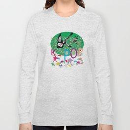 K-Pop Green Long Sleeve T-shirt