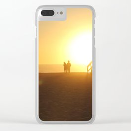 California sunset Clear iPhone Case