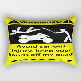 Quad Warning Rectangular Pillow