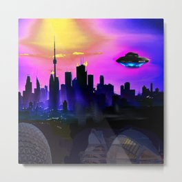 Future City Metal Print