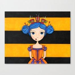 River the Tea Girl Canvas Print