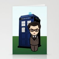 dr who Stationery Cards featuring Kokeshi Dr. Who by Pendientera
