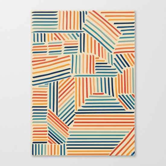 Strypes Canvas Print