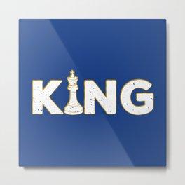 King Chess Piece - Cool Chess Club Gift Metal Print
