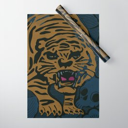 Golden Tiger Wrapping Paper