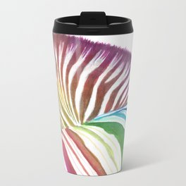 Rainbow Stripes Metal Travel Mug